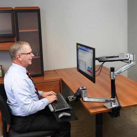 Support assis-debout pour bureau WorkFit-LX 45-405-026