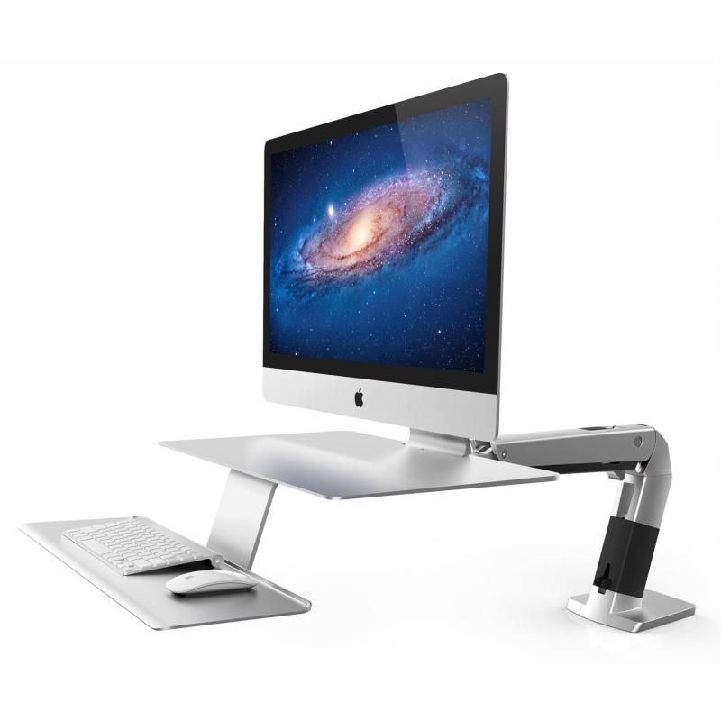 poste de travail assis debout pour apple imac. Black Bedroom Furniture Sets. Home Design Ideas