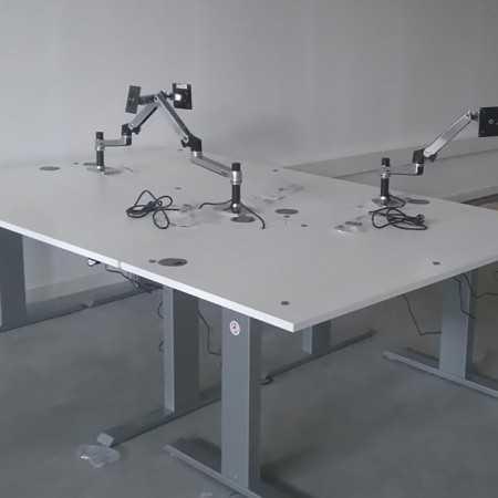 Bureau assis debout PRO 140 AF140F-140X80 Bureaux électriques