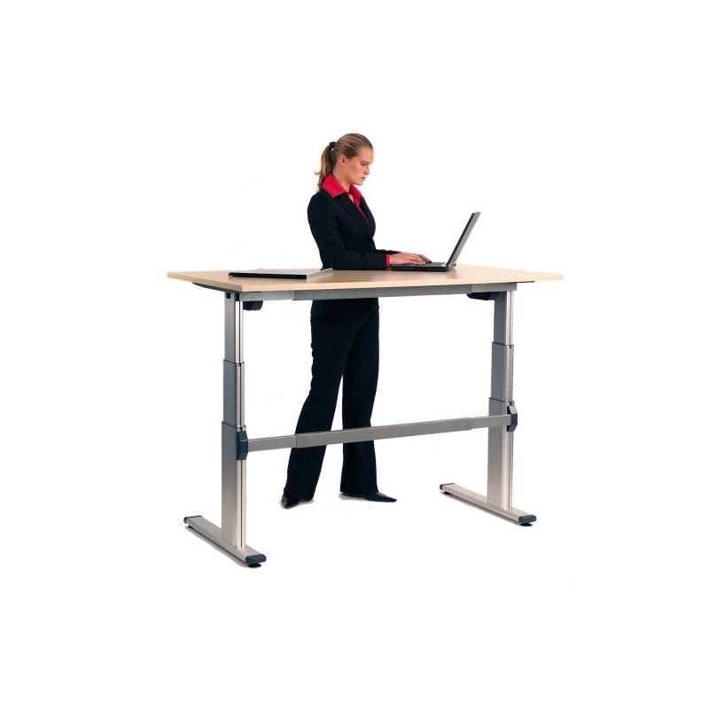 Assez Bureau assis debout electrique réglable en hauteur, matériel et  LX79