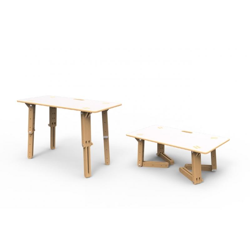 table modulable pour enfant option velleda. Black Bedroom Furniture Sets. Home Design Ideas