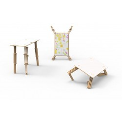 Table Modulable Enfant surface velleda