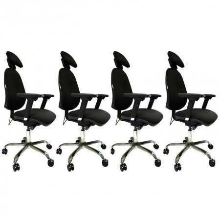 Pack Siège ergonomique Synchrone Par 4 Synchronepar4 Sièges de bureau ergonomiques