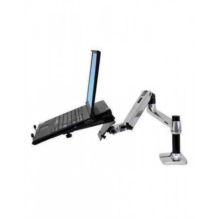 Bras ergonomique d'écran avec support ordinateur portable Ergotron