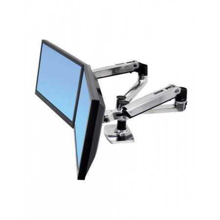 Bras ergonomique double écran Ergotron LX juxtaposés