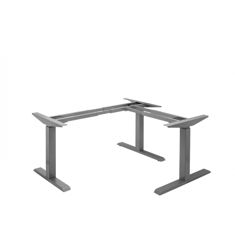 Bureau assis debout 3 pieds sans barre centrale 615 1275mm for Bureau assis