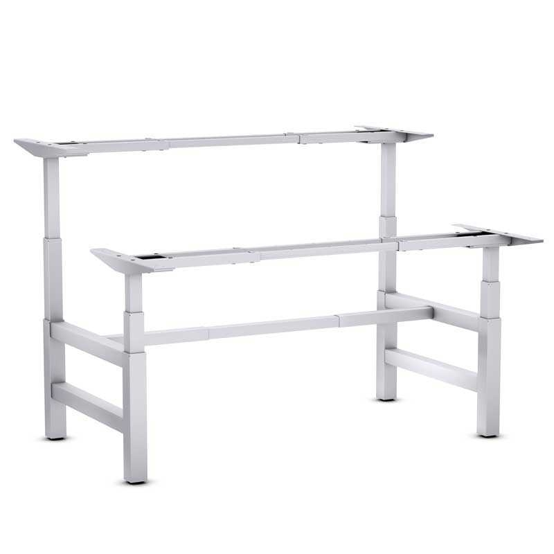 Bureau ergonomique steelforce pro 470 sls bench double for Bureau assis debout