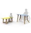 Tables modulables assis debout pour Enfant